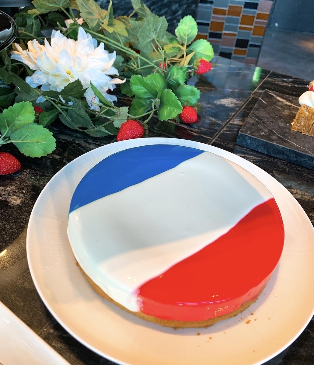 フランス国旗のケーキ