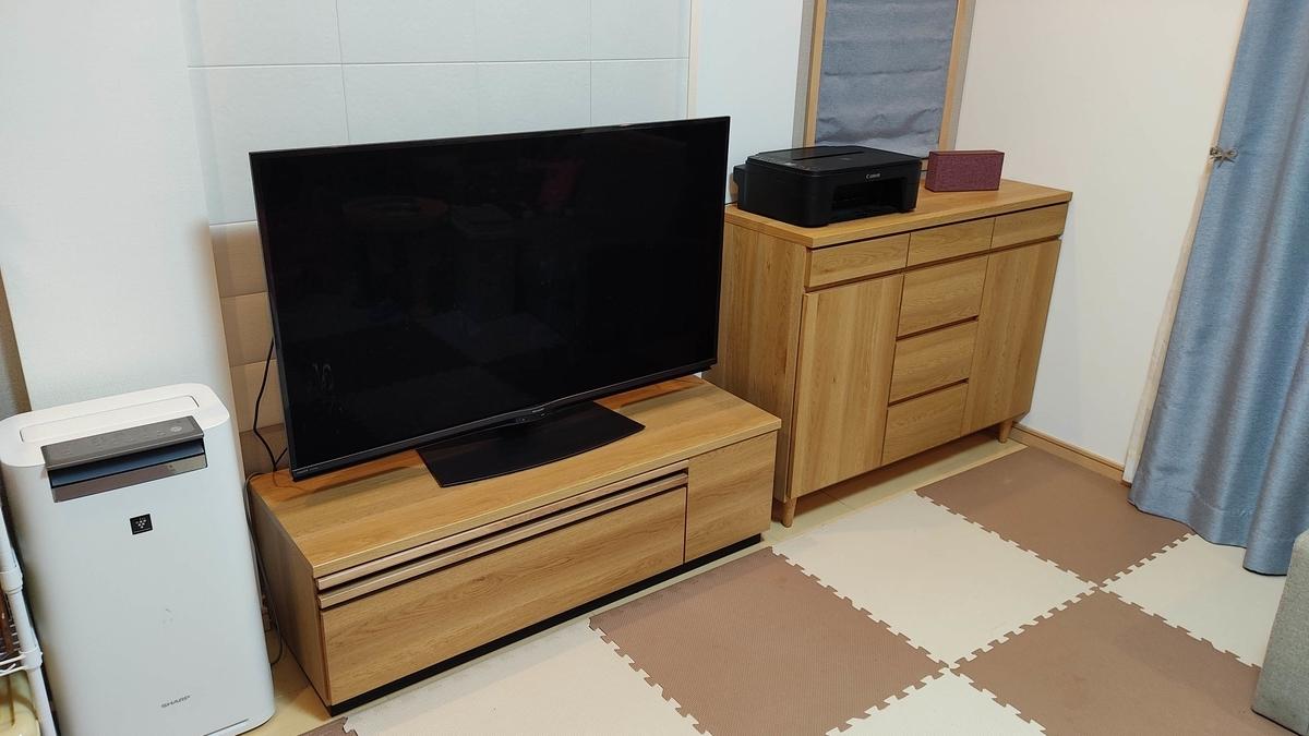 ベルメゾン 奥行が選べるカウンターキャビネット 北欧モダンテレビ台 リビング収納 テレビボード セット シリーズ