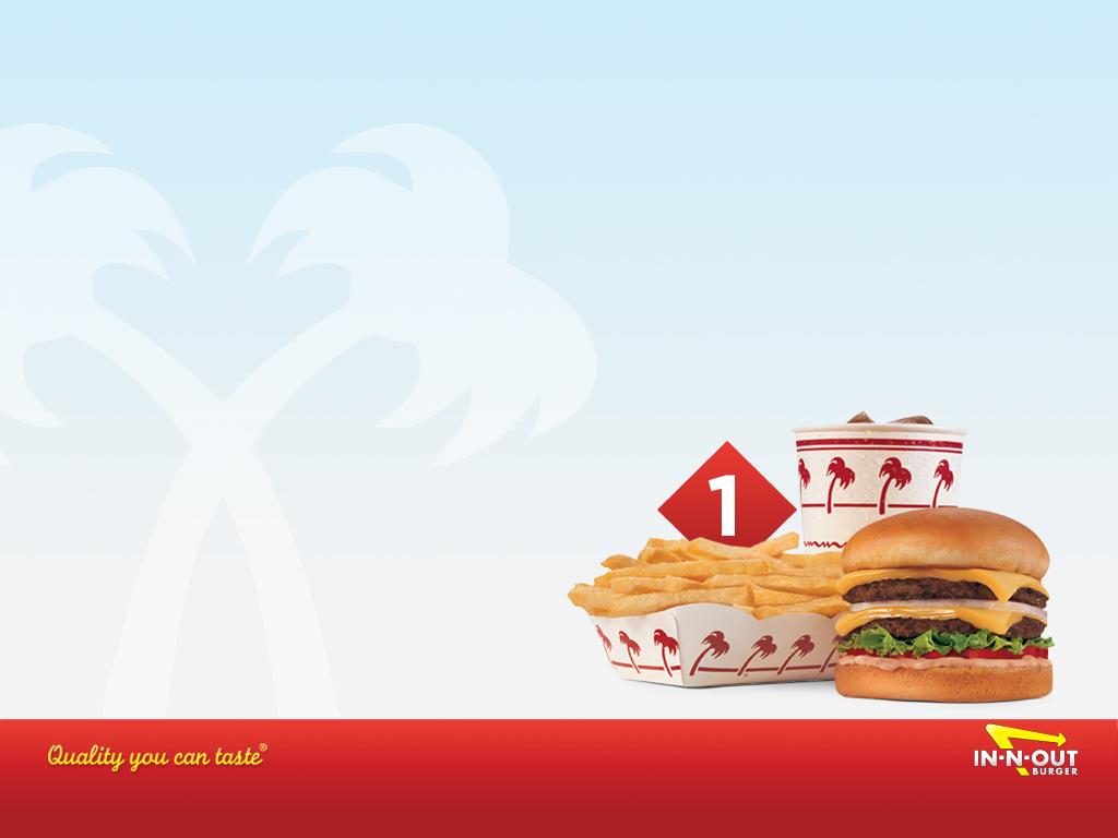 イン&アウトのハンバーガー