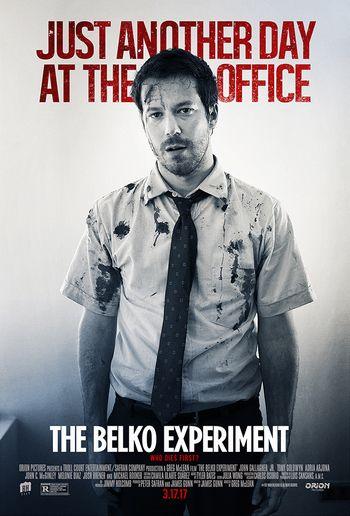 ベルコ・エクスペリメント主人公マイクのポスター