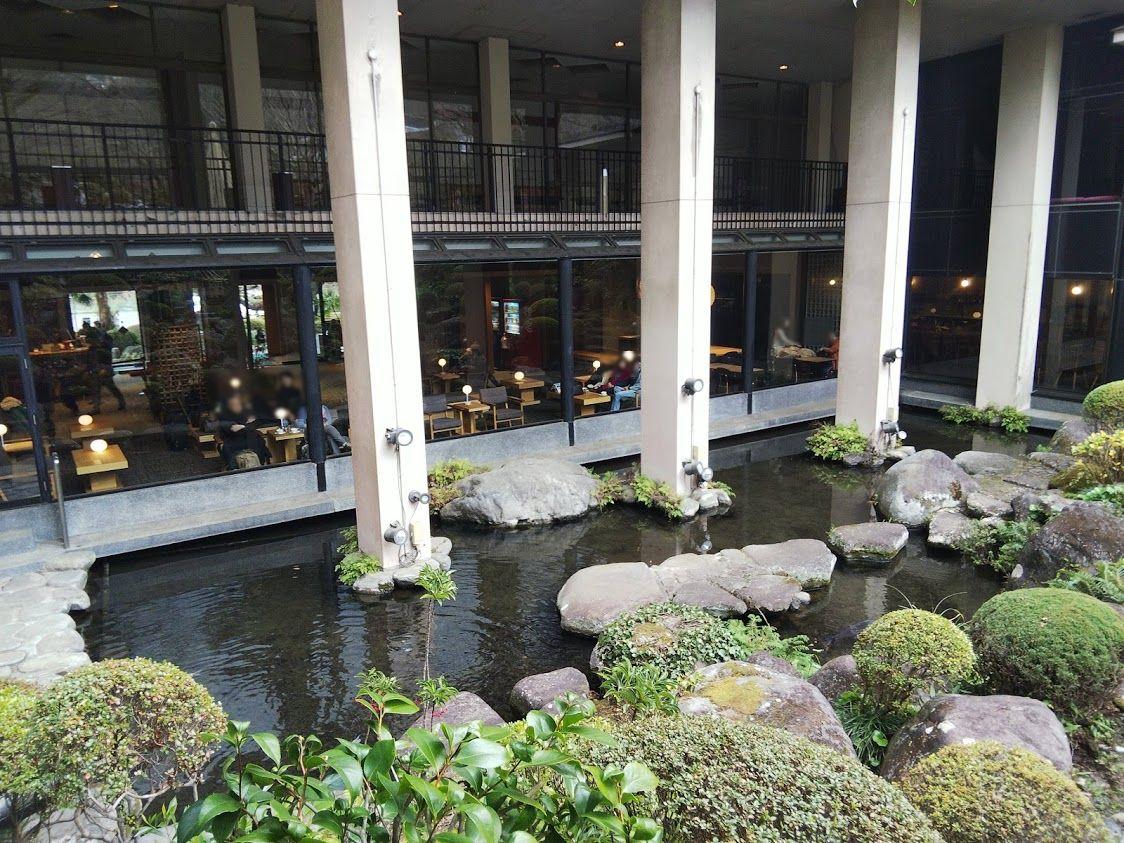 吉池旅館日本庭園ロビー