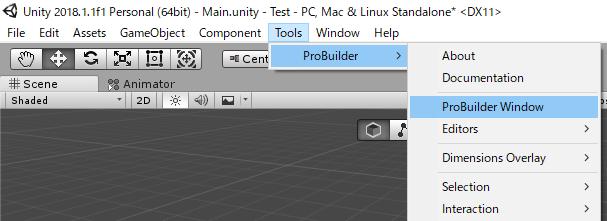 Unity】3Dゲームを作る その6 ProBuilderを使ってステージを