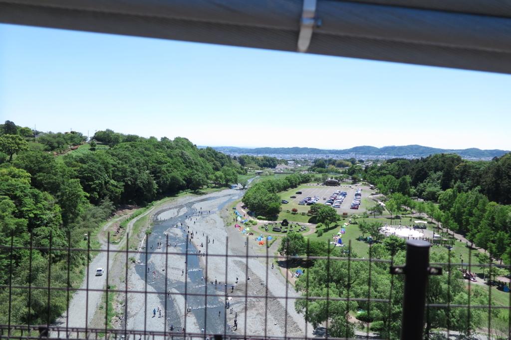 風の吊り橋から下流の眺め