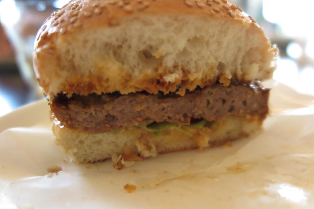 オリジナルハンバーガーの断面