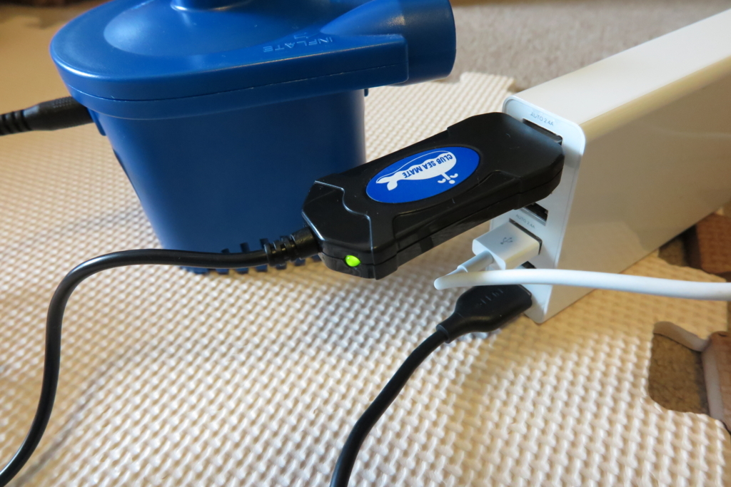 USB充電完了状態