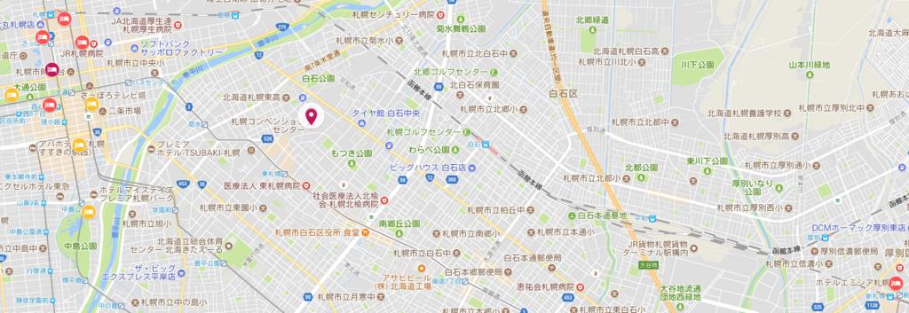 札幌ホテル候補マップ