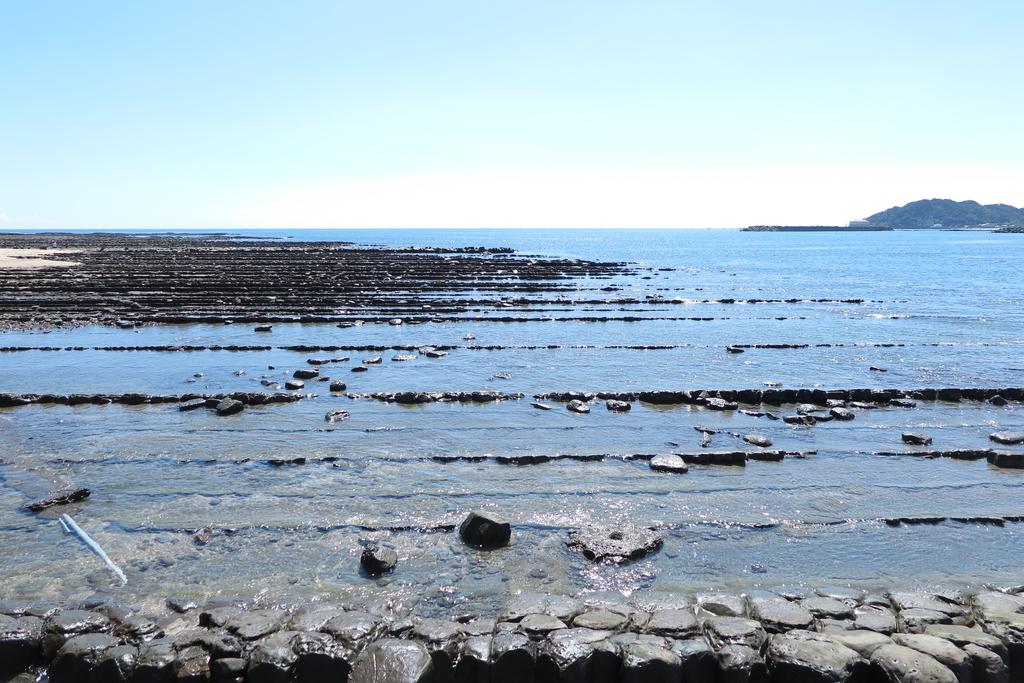 弥生橋から見える南側の海岸