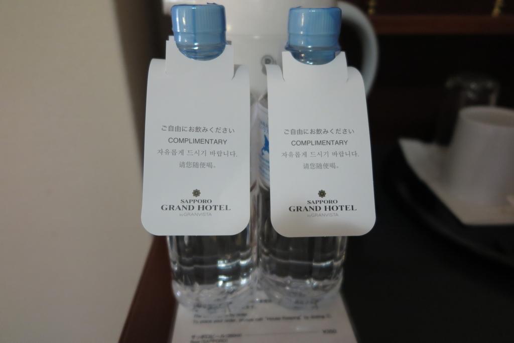 毎日500mlのお水が2本用意されていました