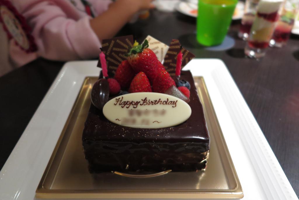 ホールケーキ 正方形 チョコ 12cm*12cm
