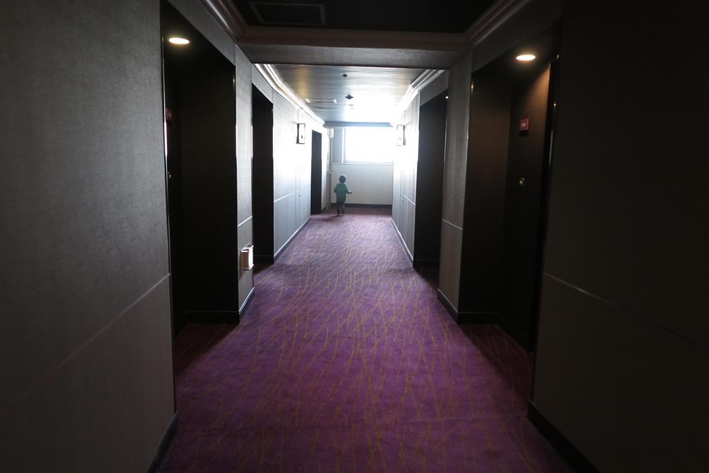 長い廊下の突き当たりのお部屋でした