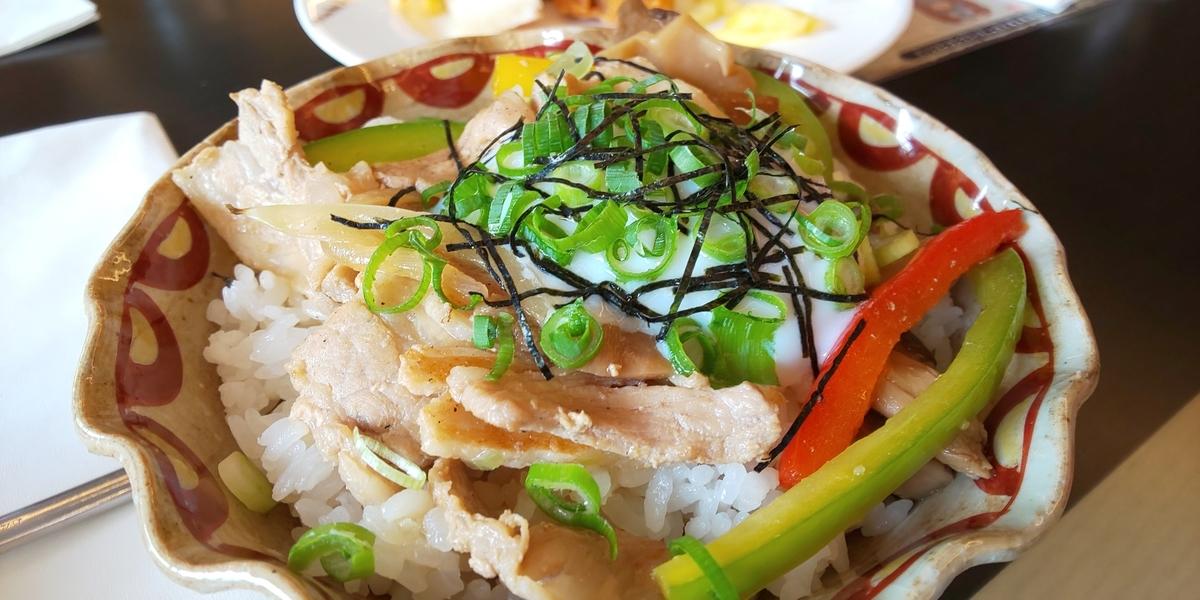サバイバル丼(豚肉と茸のスタミナ丼)