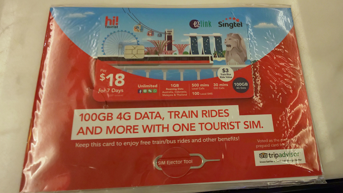 hi!Tourist EZ-Link SIM Card
