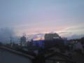 梅雨時期の夕焼けきれい