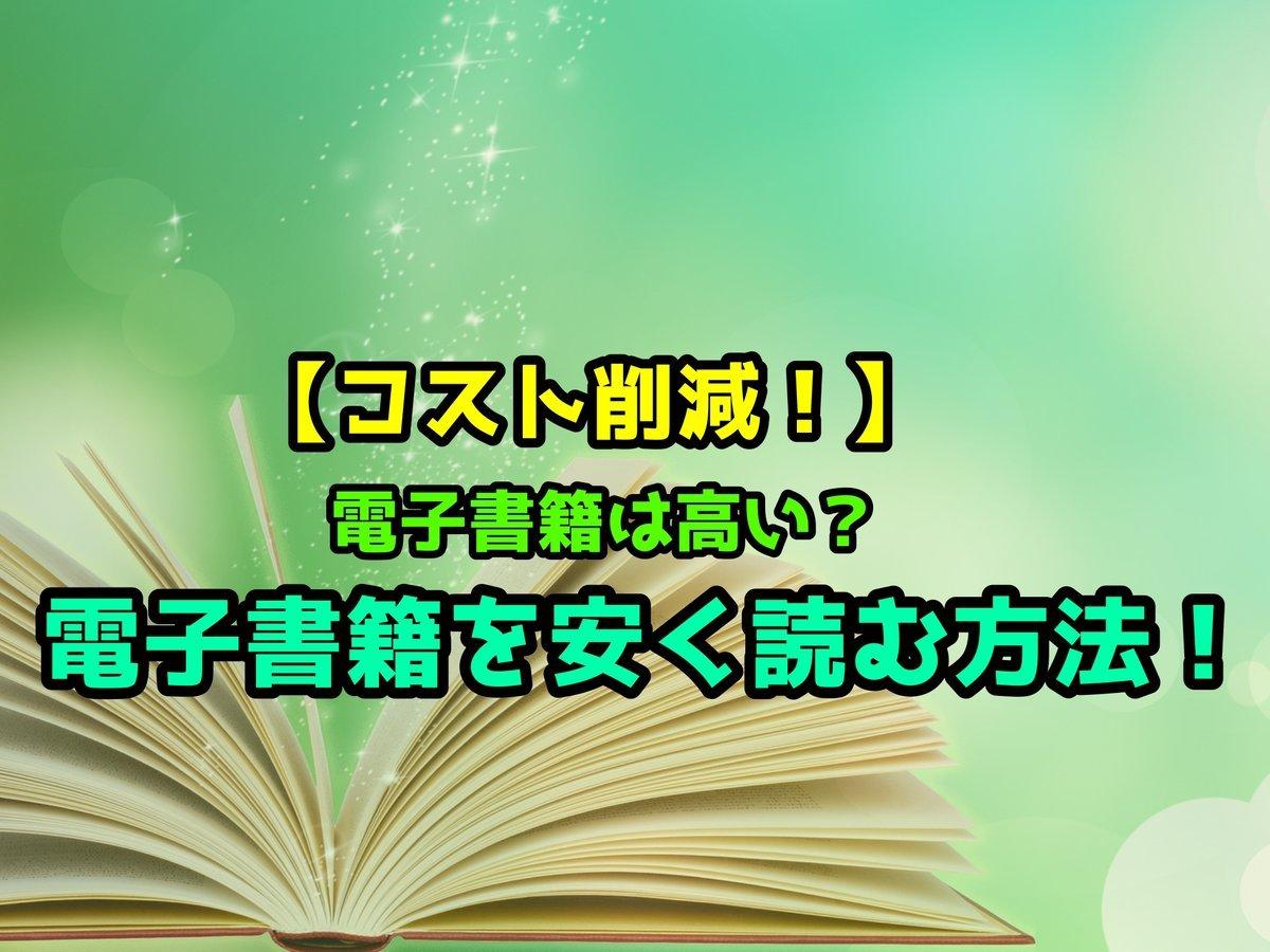 【コスト削減!】電子書籍は高い?電子書籍を安く読む方法!