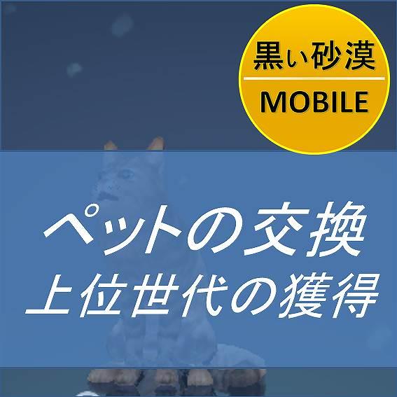 黒い砂漠MOBILE-ペットの交換・上位世代の獲得