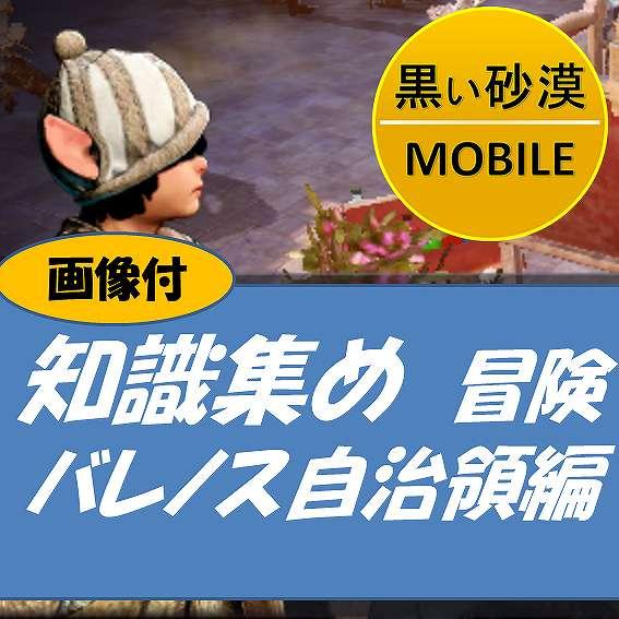 黒い砂漠MOBILE-知識集めー冒険ーバレノス自治領編