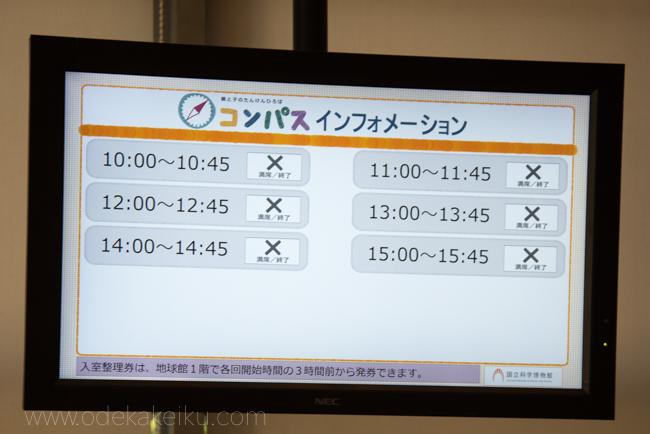 東京科学博物館コンパス整理券