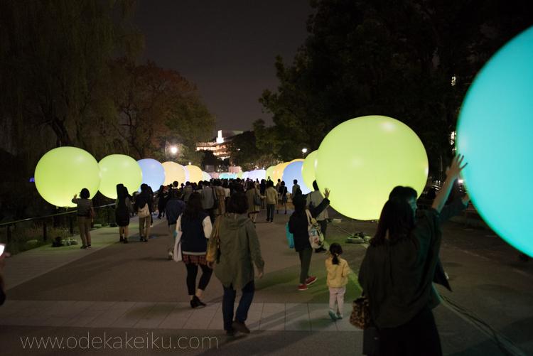 数奇フェス上野公園の球体
