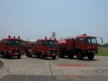 [自衛隊][海上自衛隊][海自][JMSDF][下総航空基地][消防車]普通消防車(左、中央)、4000L給水車(右)「海自版」