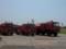 普通消防車(左、中央)、4000L給水車(右)「海自版」