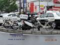 [警察][埼玉県警][ポリス][POLICE][オートバイ][スーパーカブ][スクーター][自転車][本田技研工業][HONDAMOTOR]警察仕様 スーパーカブ90 (左)、アドレスV125 (中央)、軽快車 (埼玉県警)