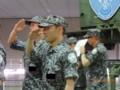 [自衛隊][航空自衛隊][空自][JASDF][幕張メッセ][ニコニコ超会議]第一高射隊所属の航空自衛官(敬礼)