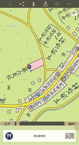 大江戸今昔めぐり江戸マップスクリーンショット