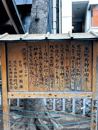 恵比寿神社境内掲示板
