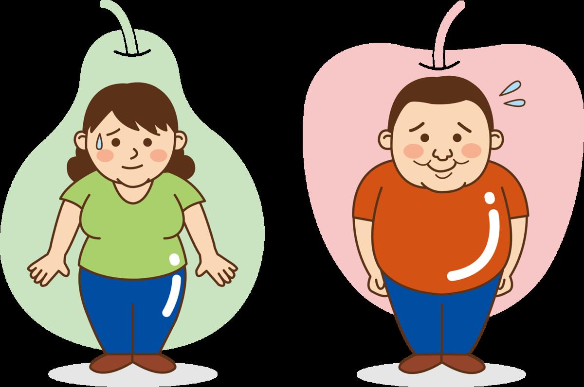リンゴ型と洋ナシ型