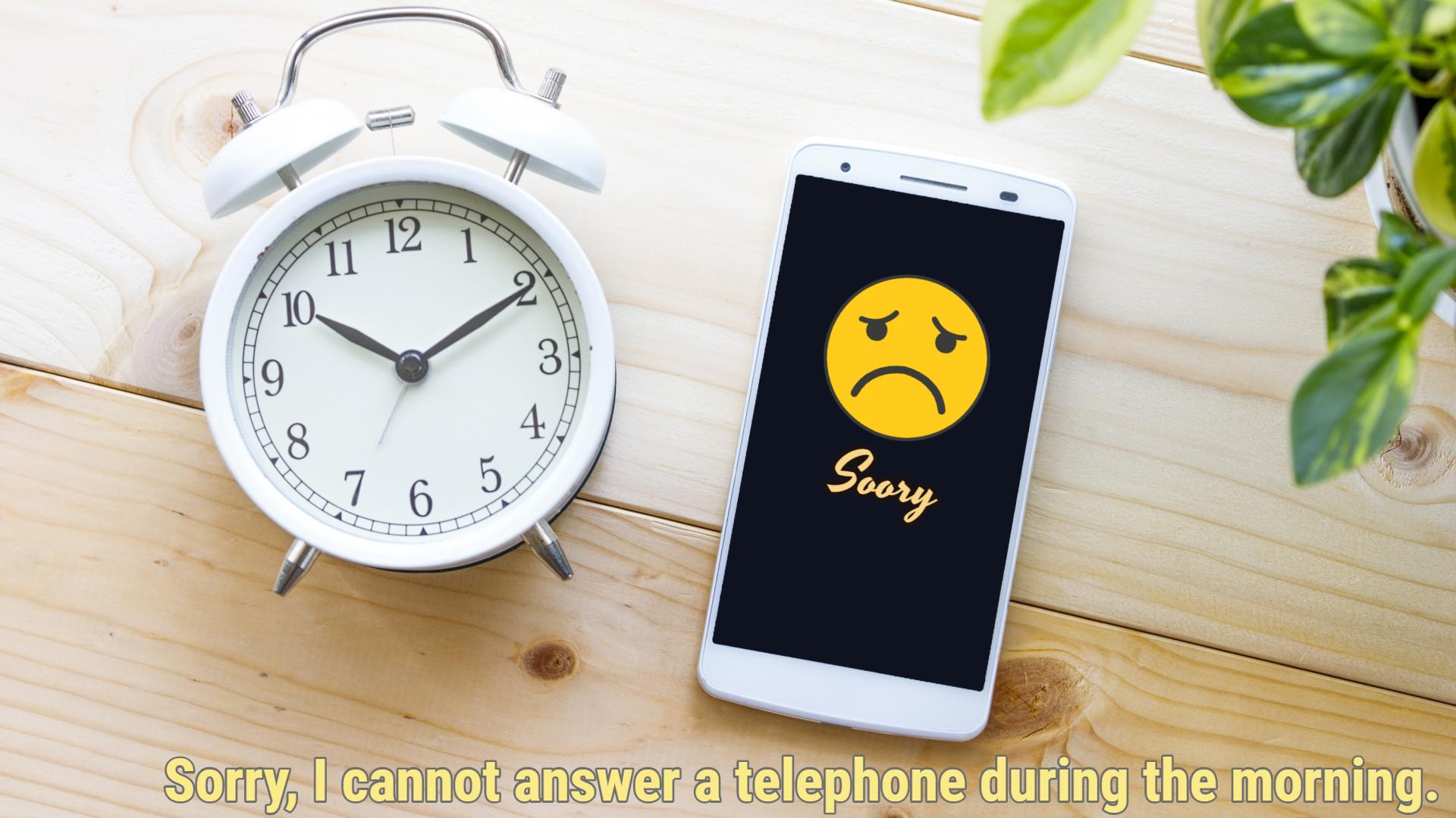 午前中の電話は勘弁して欲しいのだが・・|職住隣接物語 ngsw.net