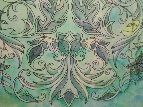 眠れる森塗り絵の続き 塗り絵日記