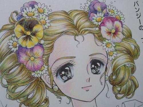 クーピーで女の子の肌を塗ってみた 塗り絵日記