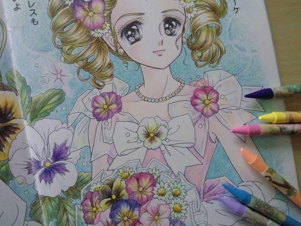 子供の塗り絵をクーピーで本気塗りしてみた 塗り絵日記