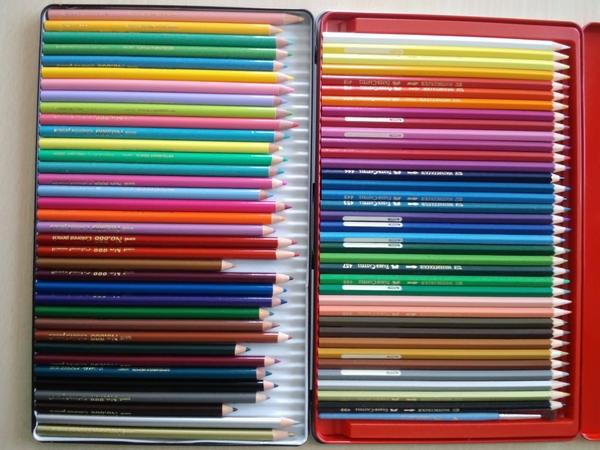 60色もあるので色見本を作ってみた。とりあえず番号順。 #無印色鉛筆60色 #無印良品 #色鉛筆 #大人のぬりえ #画材