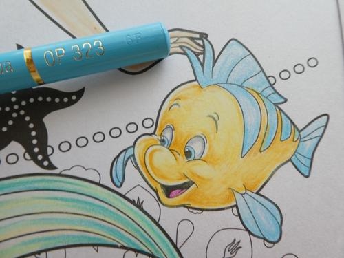 完成 色鉛筆でアリエルの塗り過程 メイキング 紹介です アートぬりえarielより 塗り絵日記