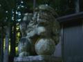 [神社][狛犬]加茂神社 - 長野市鬼無里東京