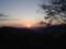 ビーナスライン落合大橋のあたり 日の出