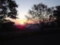 [風景]ビーナスライン落合大橋のあたり 日の出