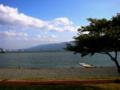 諏訪湖 下諏訪から上諏訪方向