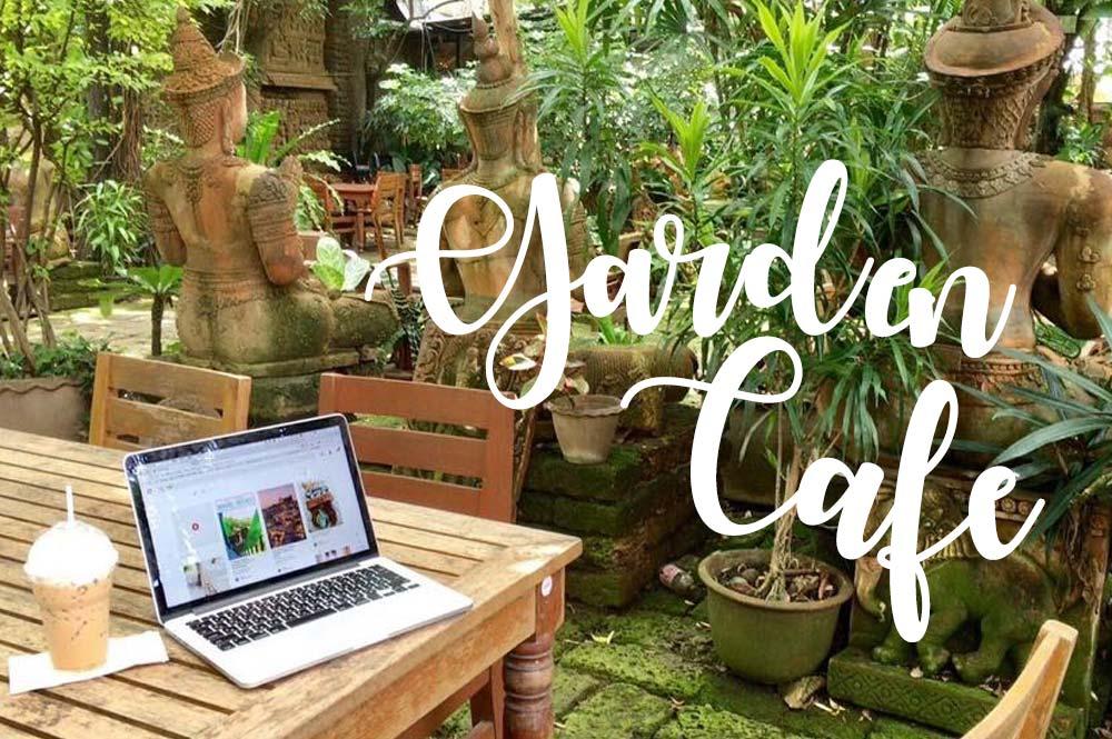 チェンマイ旧市街地内の自然たっぷりなガーデンカフェ【Clay Studio Coffee in the Garden】
