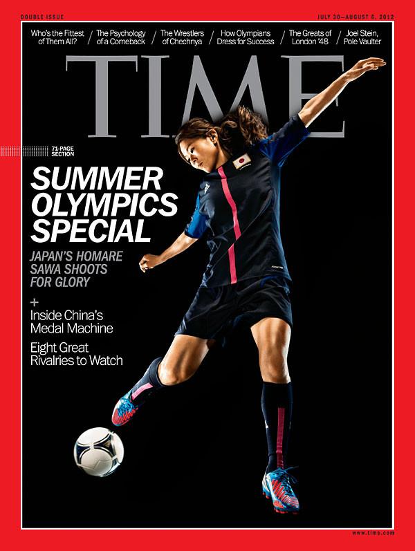 TIME誌表紙になでしこの澤選手 -...