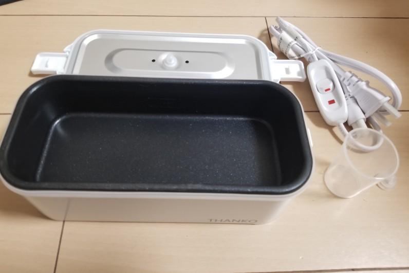 おひとりさま用超高速弁当箱炊飯器の付属品