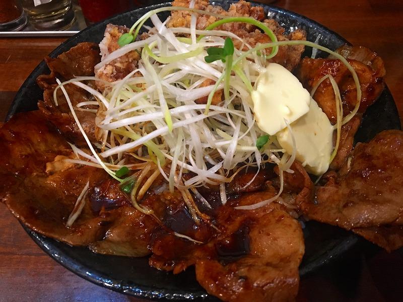 唐揚げ合盛り北海道すた丼