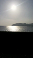 y施設の近くの風景です。送って行ったあとの夕日です。