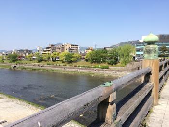 三条大橋からみた鴨川