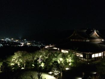 将軍塚清流殿の夜景