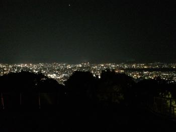 京都の町を一望する夜景