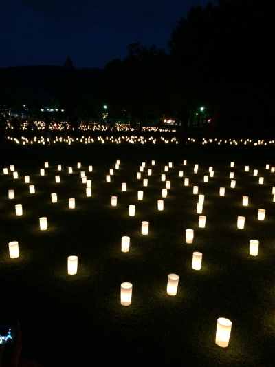 なら燈花会の浮雲園地の様子