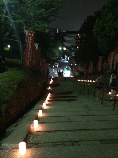 興福寺の階段。幻想的で素敵