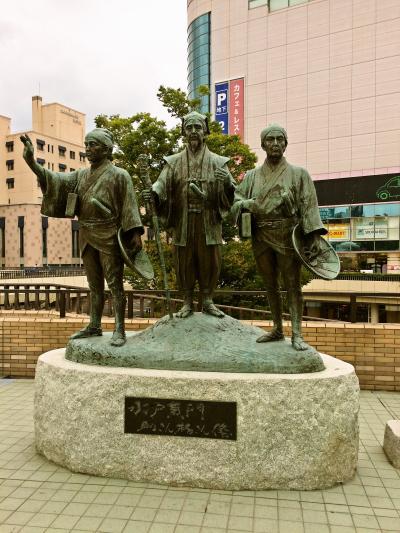 水戸駅の水戸黄門像